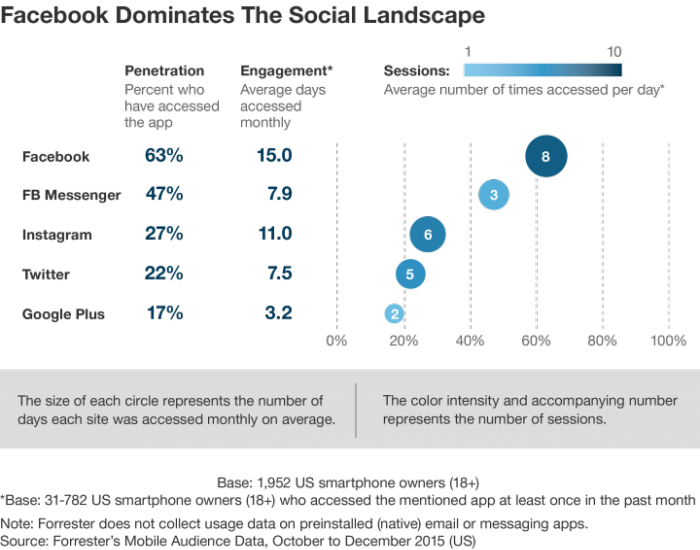 The social network landscape [#ChartoftheDay]