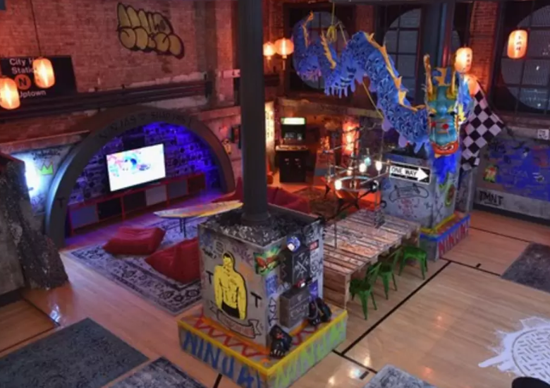 There's an Airbnb listing for the lair from the latest Teenage Mutant Ninja Turtles movie