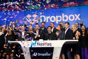 Dropbox finishes up 36% on first day of trading