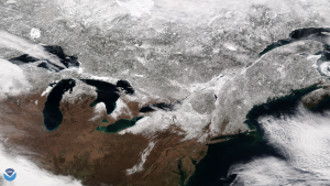 Space photos of the spring nor'easter will bring out your inner weather nerd