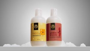 These cheese and bacon-scented hair products might be the worst bathroom idea ever